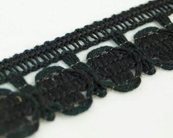 30yds Vintage Black Lace Trim/ Braid