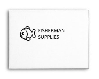 Fisherman Supplies Stamp, Hobby Stamp, Gift Stamp, Wood Handle or Self Inking
