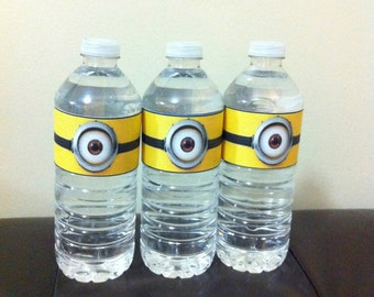 Minion Water Bottle Label - Printable