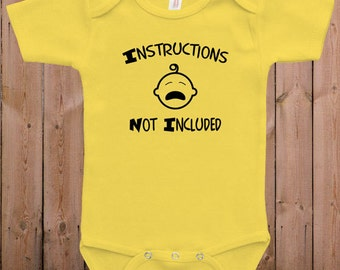 Funny baby clothes cute bodysuit Instructions not included cool baby clothes baby gift idea baby bodysuit one piece romper