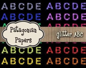 Glitter ABC DIGITAL PAPER