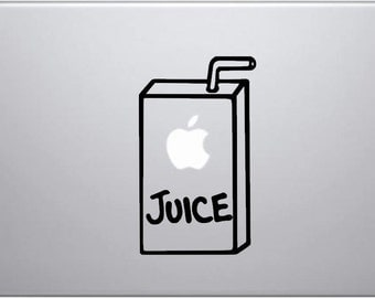 Laptop decal – Laptop Sticker – Macbook Pro decal – Macbook Air decal – Car window – Hipster - Apple Juice