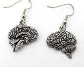 Human Brain Earrings - Neurology Earrings, Anatomy Earrings, Psychology Jewelry Neurology Jewelry, Brain Jewelry