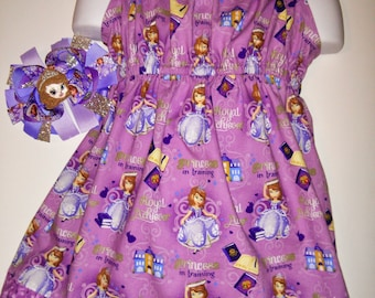 Girls Adorable Sofia the First Princess Boutique Pillowcase Summer Sun Dress! Optional Bow Available! Sizes 3, 4, 5, 6, 7 Birthday Party
