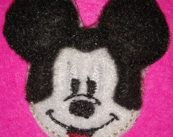 Set of 4 Mickey Mouse Feltie Felt Embellishment Bow! Birthday Party Oversized Oversize Extra Large