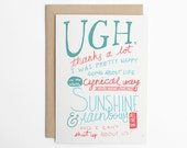 Funny Valentines Card, Love Cards, Sarcastic Card, Awkward Love Card, Anniversary Card, Funny Love Card, Card for Her, Card for Him/C-150