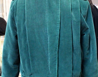 Price Reduced! Retro turquoise teal corduroy women's jacket by Jordache