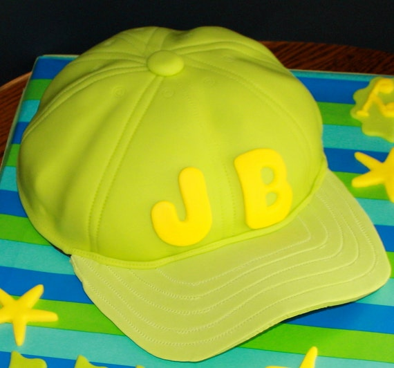 Make A Baseball Hat Cake