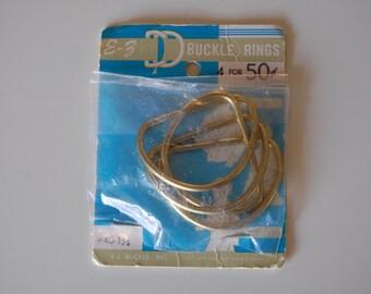 E-Z Buckle Rings (D-Rings) Vintage Packaging
