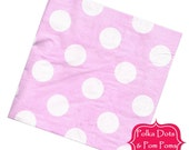 20 Pink Polka Dot Paper Napkins / Serviettes / 3ply / Large Polka Dot / Retro Kids Party Supplies / Wedding / Baby Shower