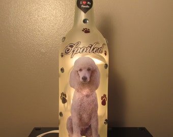 Poodle Wine Bottle Night Light