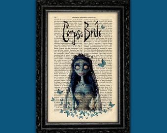 Corpse Bride Print Tim Burton Movie Art Poster Butterflies Book Art Dorm Room Wall Decor Poster Art (Nº9)
