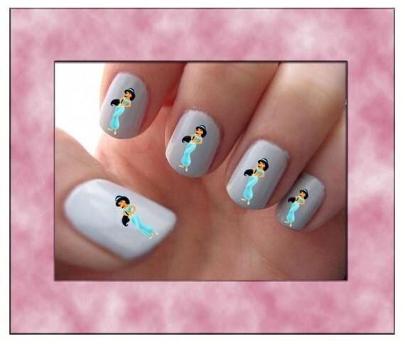 Princess Nail Art: Aladdin Jasmine Disney Princess Nail Art Water Slide Transfers