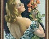 Hey Texas!!! Pinup Pin Up Calendar - Bradshaw Crandall - 1942 Calendar Advertising Card  - Jewelery Store Jacksonville Texas