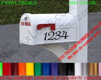 MAILBOX Street Number Decal sticker Set Decals Mail Box USPS House Address Family postage postal Stickers