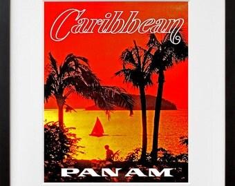 Caribbean Art Travel Poster Tourism Print (TR22)
