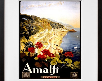 Italian Travel Poster Italy Wall Art Print (ZT283)