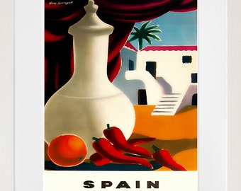 Art Spain Poster Vintage Spanish Travel Print Wall Decor (ZT422)