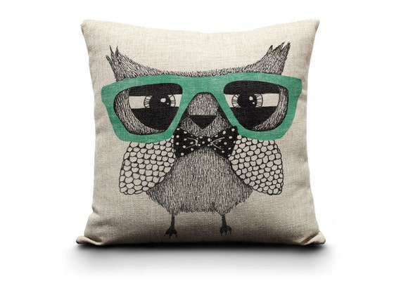 Owl Throw Pillow Etsy : decorative pillow owl pillow owl wedding by GEEKandtheCHIC on Etsy
