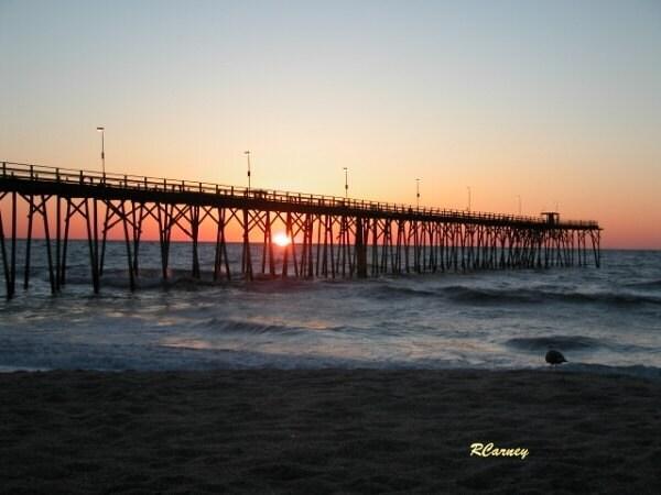 Kure beach pier located at carolina beach nc sunrise for Kure beach pier fishing report