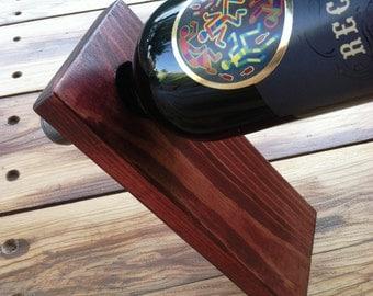 Balancing Wine Bottle Holder - Cabernet Stain