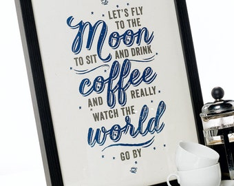 Let's Fly To The Moon A3 Print