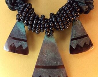 Black Shell Necklace Vintage