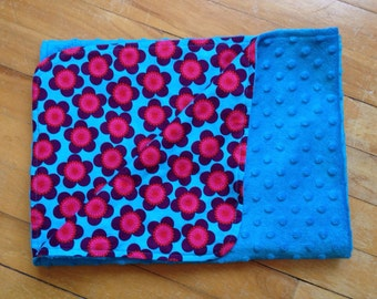 Aqua minky blanket, ** sale **