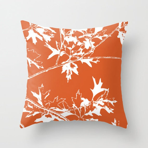 Autumn Throw Pillow Covers : Autumn Leaves and Branches Pillow Cover Fall Decorative