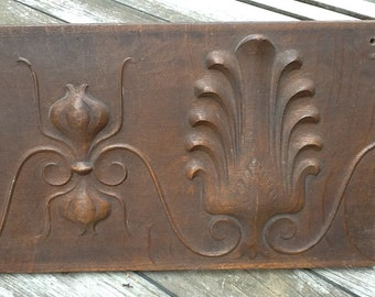 Carved wood pannel