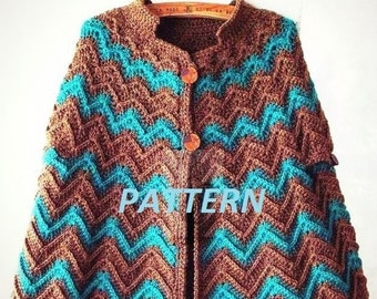 PATTERN collar crochet necklace scarf cape cozy