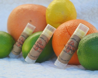 Citrus Zest Natural Lip Balm by Bee Simple | Homemade Lip Balm | Beeswax Lip Balm | Fair Trade Shea Butter | Bee Lip Balm | Gift Bags