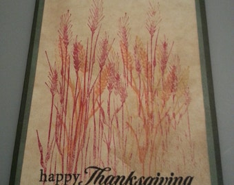 Handcrafted Thanksgiving greeting card