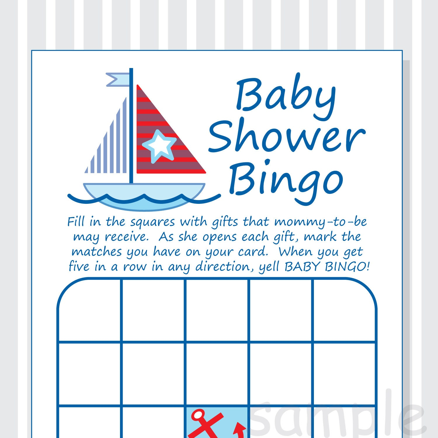 It is a graphic of Adorable Nautical Baby Shower Printables