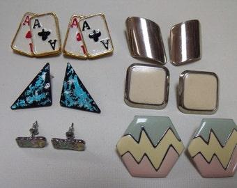 vintage Earrings 6 pairs Lot2E