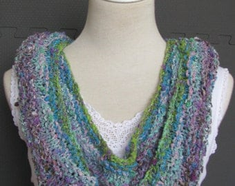 Instant Download Knitting Pattern Knitted Scarf Noro Yarn Tanabata Summer Scarf