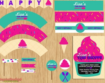 Ice Cream Inspired Party Kit - Printable