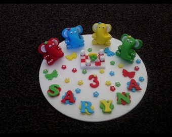 Edible teddy bears picnic birthday cake topper