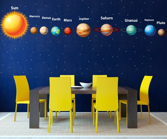 solar system wall decal planet space wall decal by decalstyles solar system wall decal complete solar system with planet