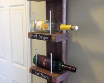 Reclaimed Wood and Rustic Wine Rack