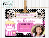 Movie Night Invitation, Movie Birthday Invitation, Movie Party Invitation, Photo Movie Invitation, Movie Night Party, Printable Invitation