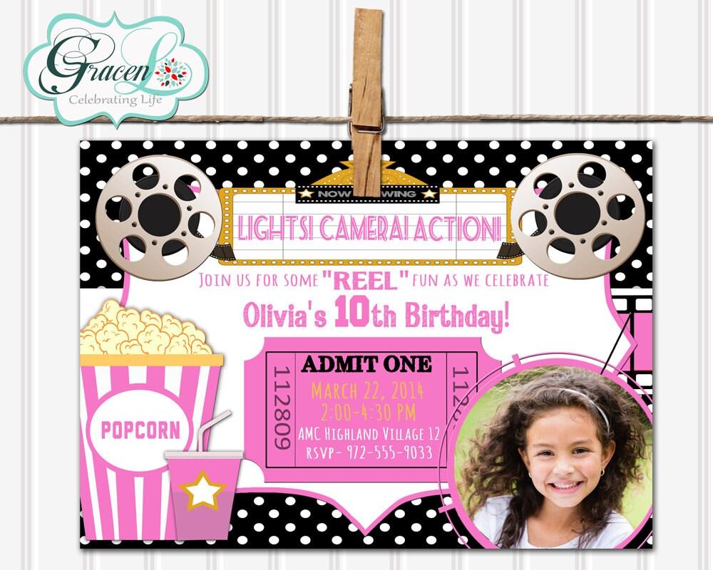 Movie Birthday Party Invitations – gangcraft.net
