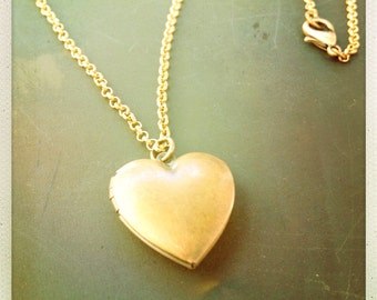 Copper Heart Locket Necklace