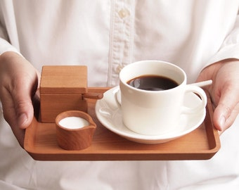 Petit cafe set with ceramic products