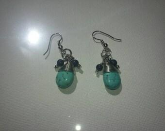 Turquoise Fish hook Earrings
