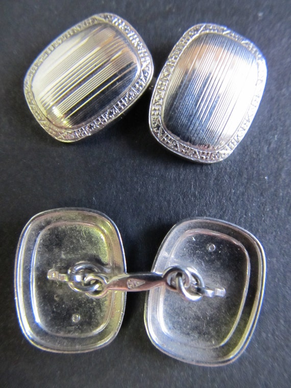White gold Cuff Links you dont see them often   RetroRoadshow on Etsy