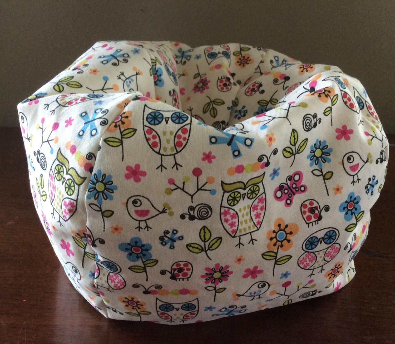 American Girl Doll Or 18 Doll Bean Bag Chair Owls