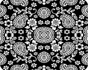 MOUSE PAD - * Black and White Paisley * Computer Mousepad Mat