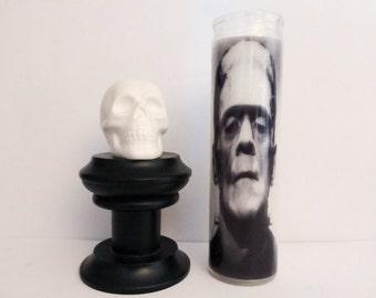 Frankenstein Monster Horror Prayer Candle