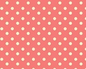 Aunt Grace's Dots- Marcus Fabrics- Pink with White Dots- R35-5363-0326- 1 Yard Fabric